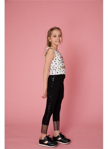 Little Star Little Star Kız Çocuk Pullu Ve Tüllü Tayt Siyah